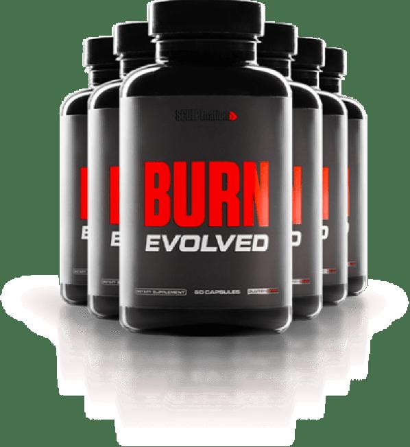 six bottles of burn evolved