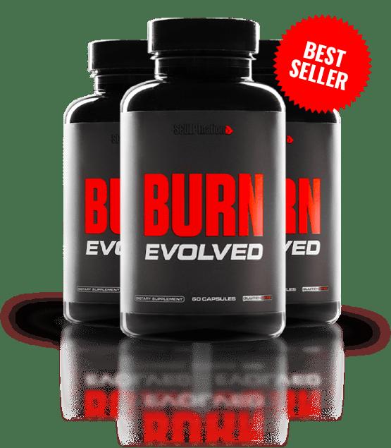 three bottles of burn evolved