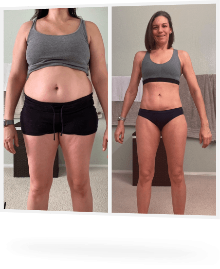 female before and after weight loss photo
